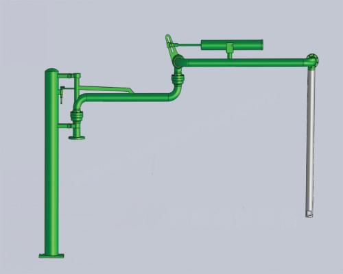 鹤管展厅;; 在石化设备中密闭液下装车鹤管不但结构简单而且使用安全